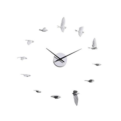 White Swallow Wall Clock