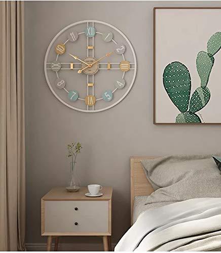 Funtabee Large White Metal Kitchen Wall Clock