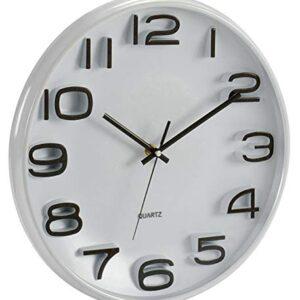 GiftDecor Classic White Wall Clock