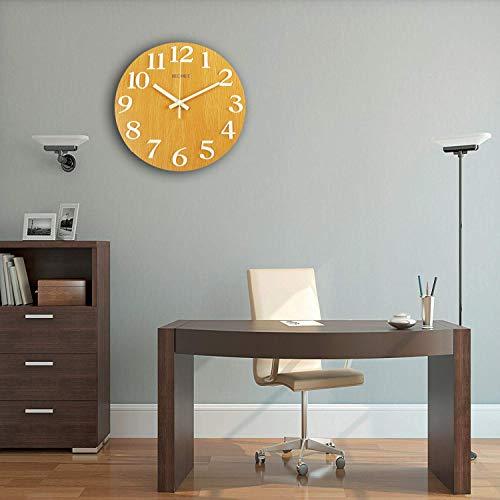 Becanoe Luminous Wooden Wall Clock