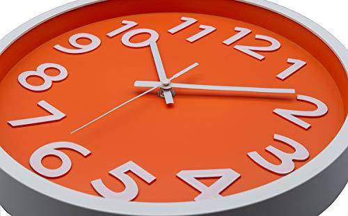 12 Inch Modern Non-Ticking Wall Clock