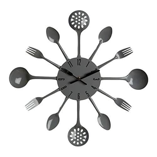Premier Housewares Grey Wall Clock