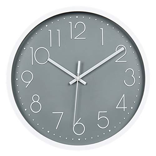 Topkey Grey Wall Clock