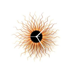 Large Wall Clock in Shades of Copper/Gold
