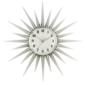 Acctim Stella Silver Wall Clock