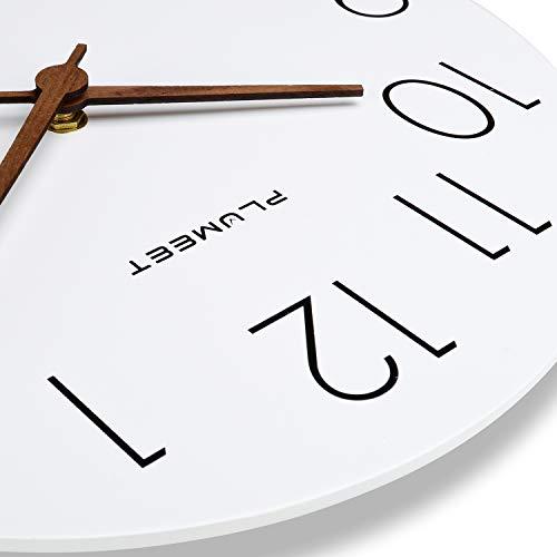 Plumeet White Wooden Wall Clock