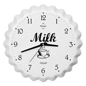 Premier Housewares Milk Bottle Cap Wall Clock