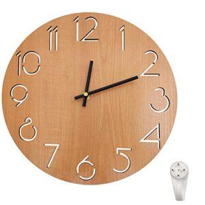 Outpicker 12 Inch Wooden Wall Clock