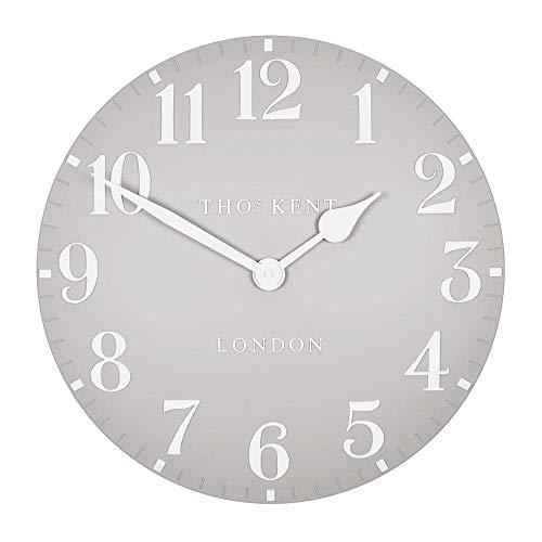 "Thomas Kent 12"" Arabic Dove Grey Wall Clock"