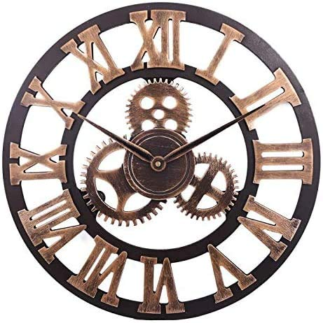 Toktekk Retro Roman Numeral Wall Clock