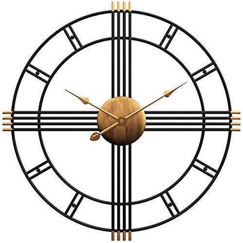 Funtabee Large Black Skeleton Metal Wall Clock