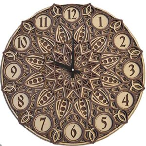 Atlas Home Large Wooden Wall Clock