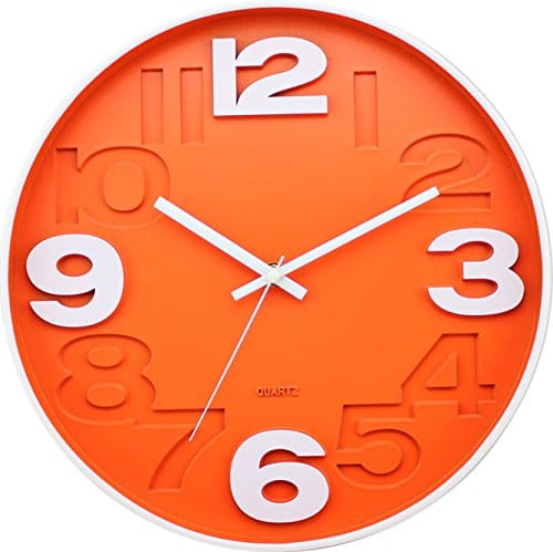 BUVU Wall Clock, Orange, 30 x 30 x 5 cm