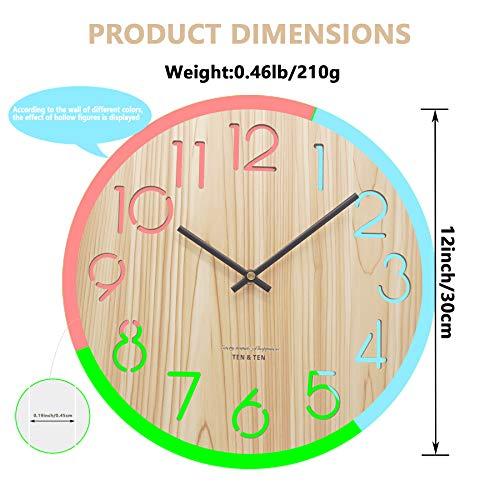 Vihimi Vintage Wooden Wall Clock