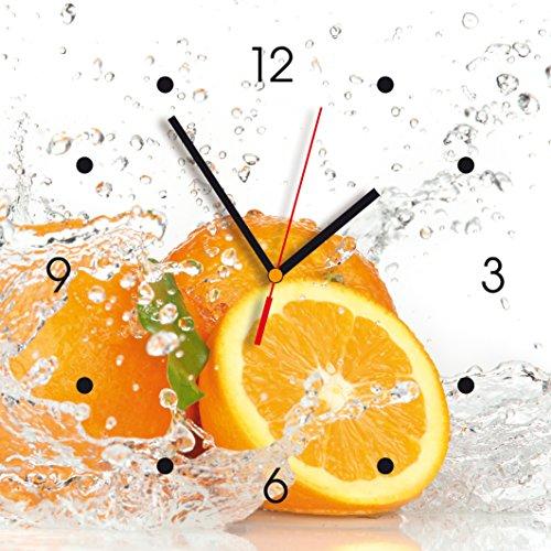 Contento Oranges Wall Clock, Multi-Colour, 28 x 28 x 2.1 cm
