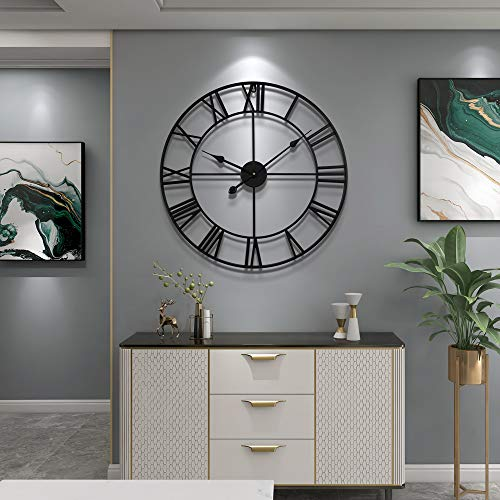Vintage Silver Large Wall Clock