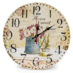 Lohas Silent Wooden Round Wall Clock