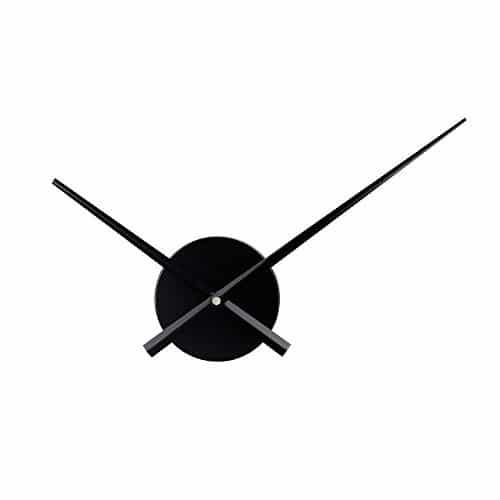 Timelike 3D Clock Hands, DIY Large Clock Hands Needles Wall Clocks 3D Home Art Decor Quartz Clock Mechanism Accessories (Black)