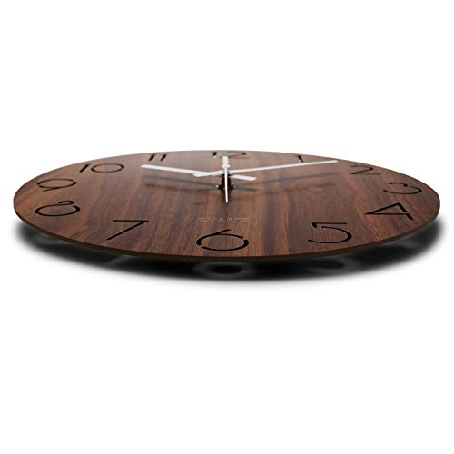 jomparis 12 Inch Vintage Arabic Numeral Design Rustic Country Tuscan Style Wooden Decorative Round Wall Clock