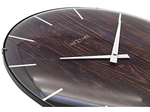 NexTime 3249BR Modern Wall Quiet Clocks, 35.6