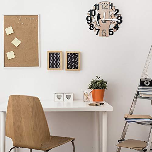 Amazon Brand - Umi - Tree-Shape Wall Clocks Silent Non-Ticking Quartz Clocks for Office Kitchen Living Room Bedroom