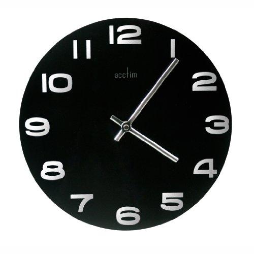 Acctim 27003 Mika Wall Clock, Black