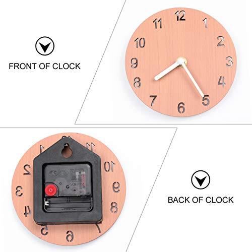 Garneck World Map Wall Clock Modern Multiple Time Zone Clock New York London Beijing Time Zone Clock for Home Office (No Battery Light Brown 140X65cm