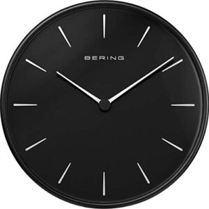 BERING Wall Clock | Simple and Modern Nordic Design | Black and Black | Runs Particularly Quietly | 162 mm in Diameter | 90292-22R