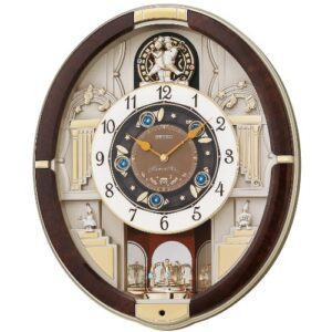 Seiko QXM289B 12 Analogue Melodies in Motion Wall Clock