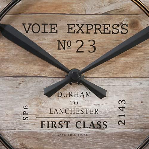 Pendulum Wall Clock – Vintage Distressed Copper Diameter 39 cm – Brown