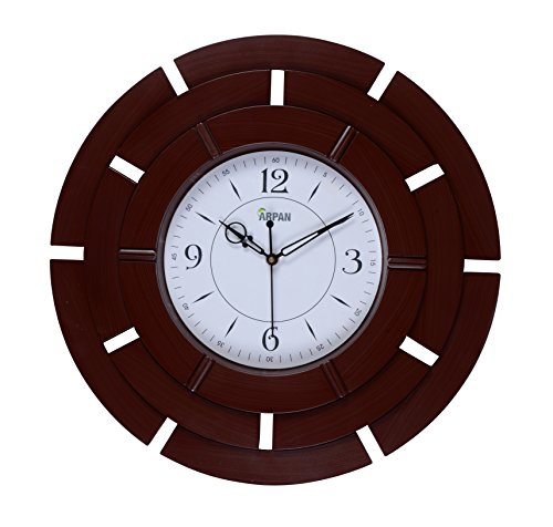 ARPAN 41cm Analog Antique Style Wall Clock For Home Kitchen/Living Room,Bedroom (Brown)