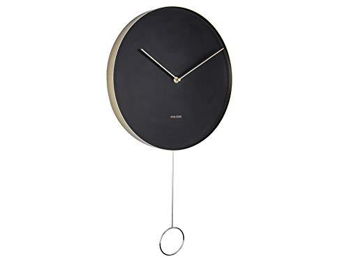 "Karlsson ""PENDULUM Wall clock - 34cm Black (KA5766BK)"