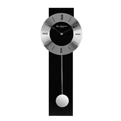 Black Wood Pendulum Wall Clock