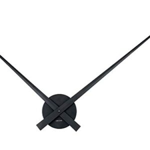Karlsson, Wall clock, Aluminium, Black, 90cm