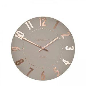 "Thomas Kent Mulberry Design Rose Gold Wall Clock - 12"" London"