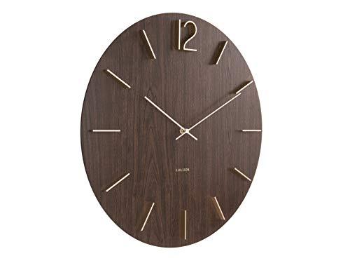 Karlsson Meek Dark Wood Wall Clock (KA5697DW)