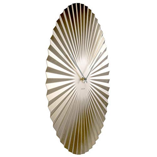 Karlsson, wall clock, Steel, Gold, One Size
