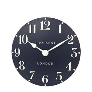 """Thomas Kent Classic Collection Arabic Wall Clock Ink Blue 12"""""""