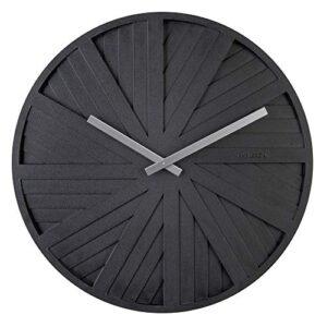 Karlsson Wall Clock 'Slides' Design by Chantal Drenthe (KA5839BK - Black)