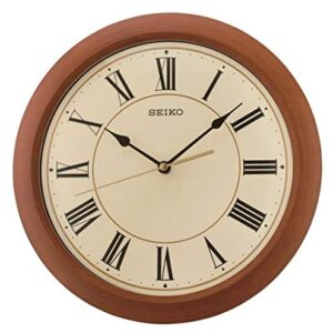 Seiko Wall Clock, Brown, One Size