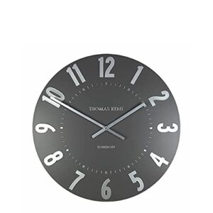 """Thomas Kent Mulberry Design Wall Clock in Graphite Silver - 12"""" London"""