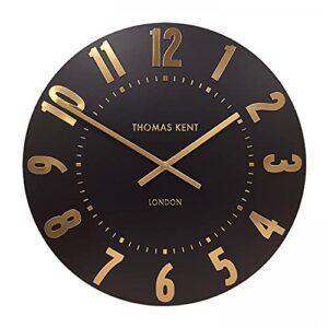 "Thomas Kent Mulberry Wall Clock Onyx 12"""