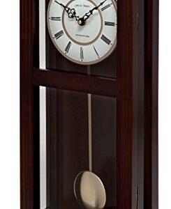 Fox and Simpson Ashton Walnut Pendulum Clock with Westminster Chimes, Wood, 27x13x56 cm