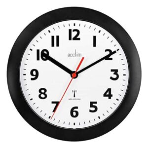 Acctim 74313 Parona, Black Radio Controlled Wall Clock