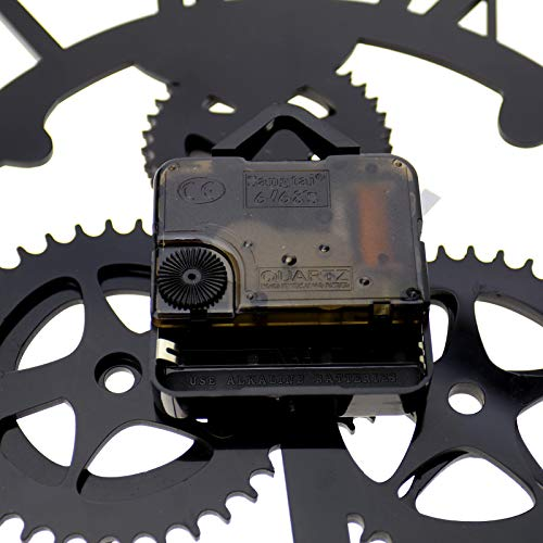 OTOTEC Black Iron Classic Round Roman Numeral Steampunk Wall Clock Living Room Decor