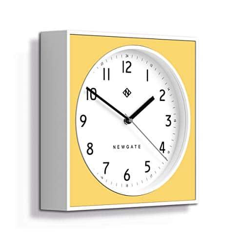 NEWGATE® Burger & Chips Wall Clock   Modern   Yellow