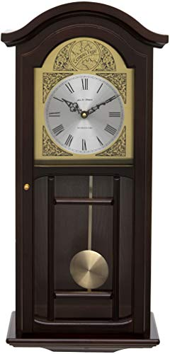 Fox and Simpson Mahogany Coloured Wood Pendulum Wall Clock with Westminster Chimes