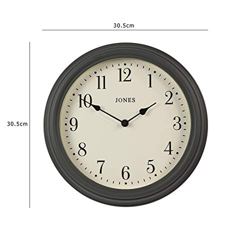 Jones Clocks® Venetian Wall Clock Classic Traditional Design With Clear Easy to Read Dial For Kitchen Office Dining Living Room 30cm