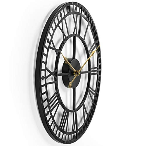 60cm Large Metal Wall Clock Antique Vintage Retro Style Home Hotel Bar Office Decor Gift Idea