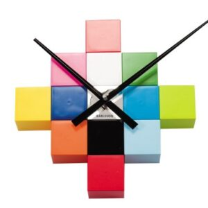Present Time Karlsson Do It Yourself Cubic Wall Clock, Multicolour